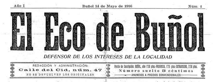 El Eco de BUÑOL 1916