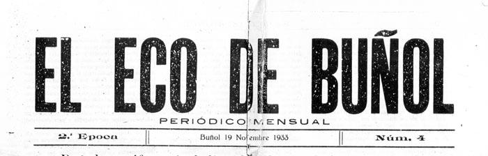 El Eco de Buñol 1933