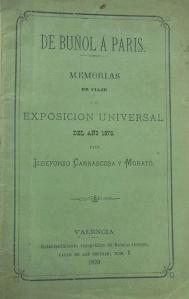 DE BUÑOL A PARIS 1879