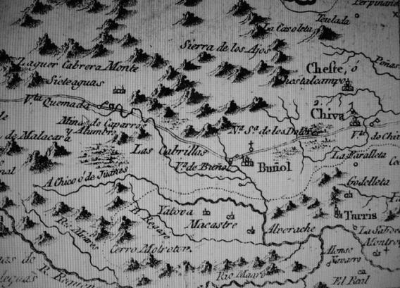 Plano comarca de Buñol 1795
