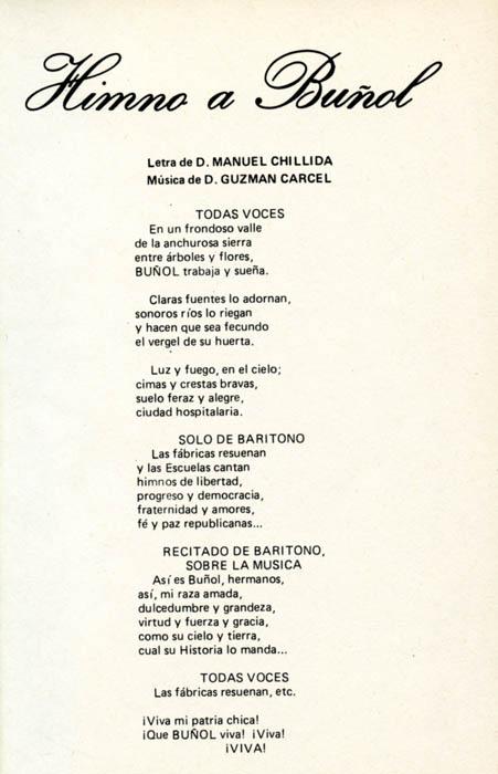 Resultado de imagen de himno a buñol