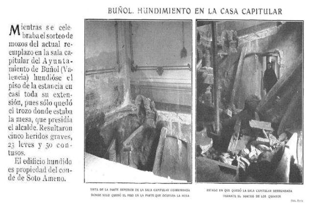casa capitular  hundimiento 1909