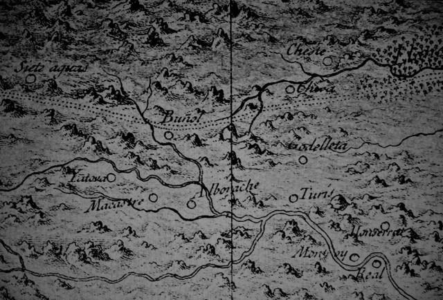 Detalle de la Hoya del plano de Cavanilles