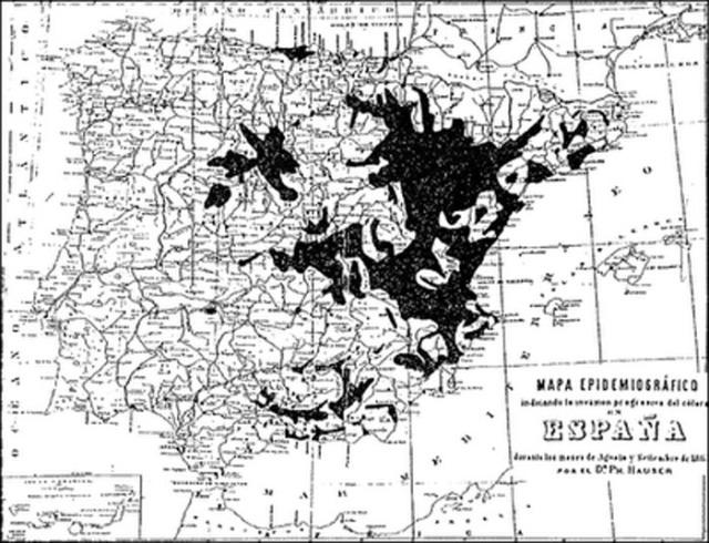 mapa del cólera 1885