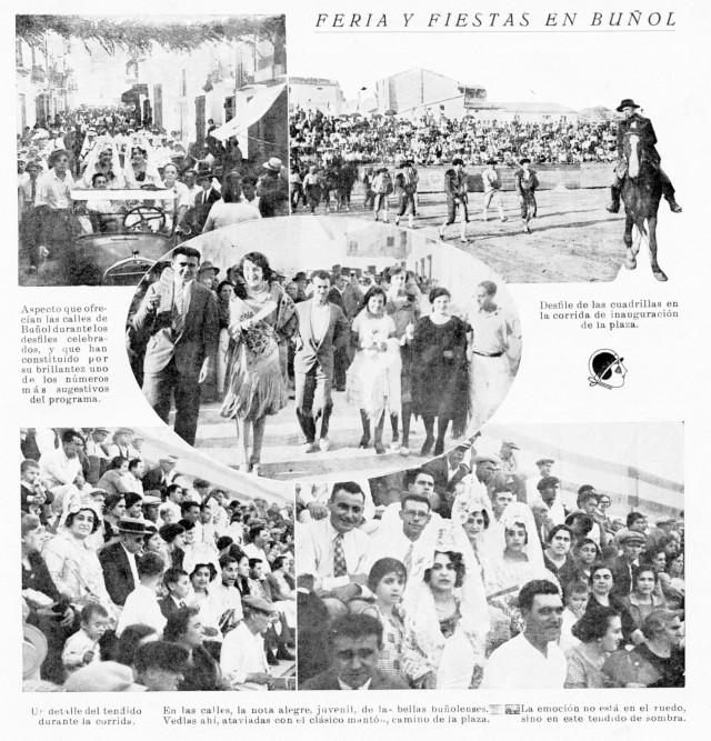Corrida de toros y pasacalles en las fiestas de 1928 Buñol