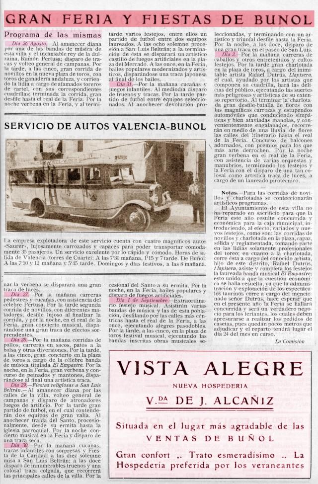Fiestas de Buñol 1928