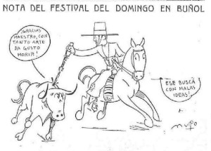 Nota del Festival Taurino en Buñol
